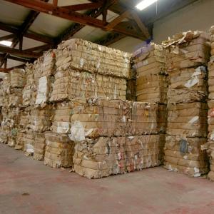 Collecte des déchets en carton